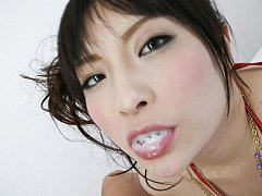 Rika Sonohara Asian with boobs tied in ropes takes...