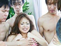 Sara Seori Asian has tits fondled and gets fingers...