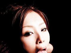 Suzuka Ishikawa Asian gets cum in mouth from dick...