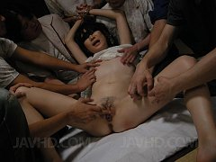 Aoba Itou split wide and left dripping cum from he...