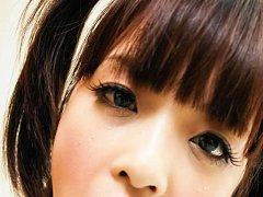 Rin Yuzuki Asian in uniform gets cum in mouth afte...