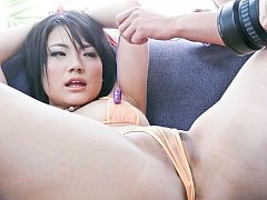 Haruna Katou Asian with tied hands gets vibrators...