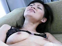 Ryo Sasaki Asian is screwed with vibrator and fing...