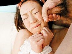 Rina Yuuki Asian with covered eyes screams from vi...