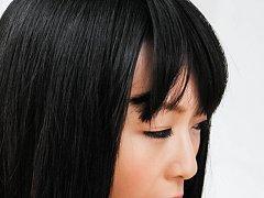 Nozomi Hazuki Asian sucks cock and shows her red a...