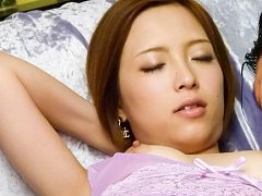 Ena Ouka Asian with nasty cans bites her lips whil...