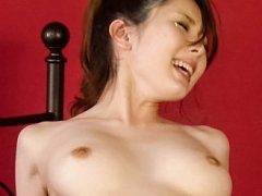 Yui Hatano Asian in stockings rides dick with lick...