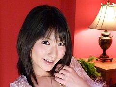 Megumi Haruka with big tits and stockings sucks an...