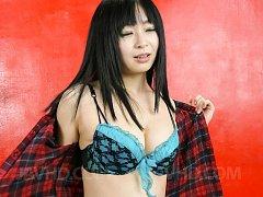 Nozomi Hazuki Asian sticks fingers in pussy while...