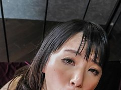 Tsuna Kimura Asian has shaved pussy fingered and r...