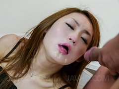Yayoi Orikasa gets cum on face after getting cock...