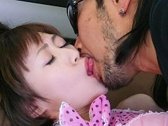 Akina Hara Asian has pussy rubbed and fucked by co...