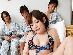 Nanaka Kyono has hairy twat aroused and fucked wit...