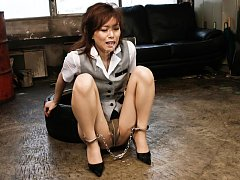 Keito Miyazawa Asian with legs and hands tied gets...