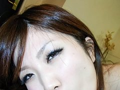 Nana Oshikiri Asian sucks and licks dick before ha...