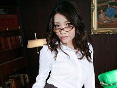 Hot secretary Ibuki services her boss and gets cum...