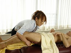 Anna Mizukawa Asian massages man with oil and lick...