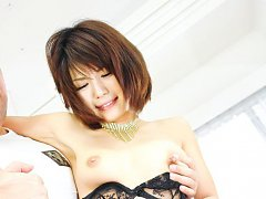 Azumi Harusaki Asian gets dick after dick in mouth...