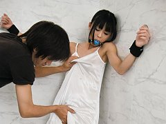 Chika Ishihara Asian is tied and teased with vibra...