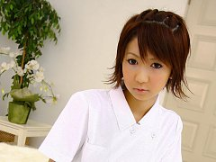 Miriya Hazuki Asian nurse sucks and licks cock til...