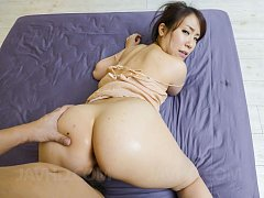 Sakura Ooba Asian sucks strong penis and is fucked...