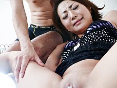Yuu Shiraishi Asian gives blowjob while is fucked...