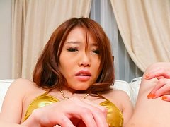 Aoi Yuuki Asian has beaver aroused with vibrator a...