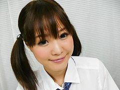 Momoka Rin Asian in short skirt licks and sucks ca...