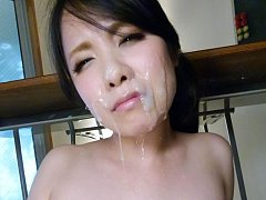 Miho Tsujii Asian has pussy touched with dildo and...