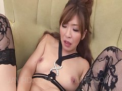 Koda Riri Asian in stockings and with nude tits ru...