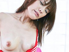 Nagisa Aiba Asian has nipples pinched and vibrator...