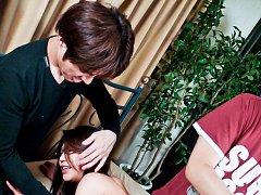 Mizuki Ogawa Asina in stockings has nipples and pu...