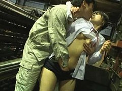 Jav Asian babe gets tool in peach and in mouth fro...