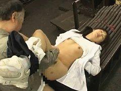 Jav Asian babe has boobies sucked and hot box pump...