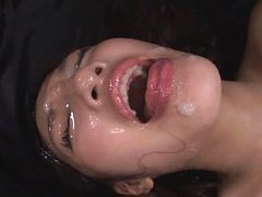 Jav Asian babe sucks crown jewels and gets sperm a...