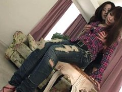 Jav Asian babe in jeans has big chest fondled by g...