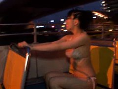 Ami Tokito Asian is in roller coaster with specs a...
