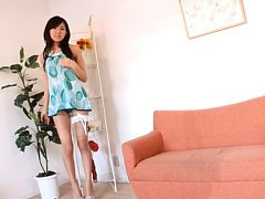 Yu Takaoka Asian in sexy lingerie moves with eroti...