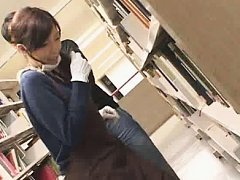 Jav Asian cupcake with gloves and stockings is fon...