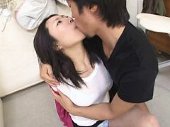 Jav Asian babe has big boobs touched over blouse a...