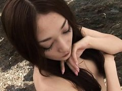 Sayoko Ohashi Asian takes tiny bath suit off and h...