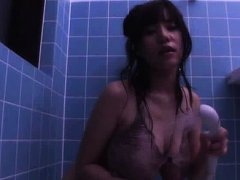 Ruri Saijoh Asian with huge boobs enjoys shower ov...