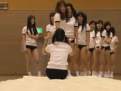 Jav Asian honey and chicks in sports outfit are at...
