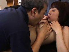 Otone Igawa Asian with brown nipples has pussy lic...