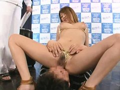 Jav Asian chick has pussy licked and cans touched...