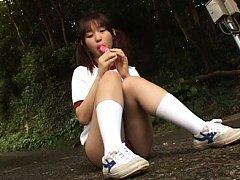 Miyu Takahashi Asian enjoys licking candy so eroti...