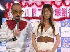 Jav Asian chick takes dress off while gives interv...