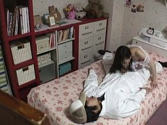 Jav Asian doll in sexy white lingerie gives good b...