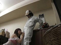 Jav Asian doll welcomes man that licks her vagina...