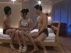 Jav Asian doll is fondled by two fellows and gets...